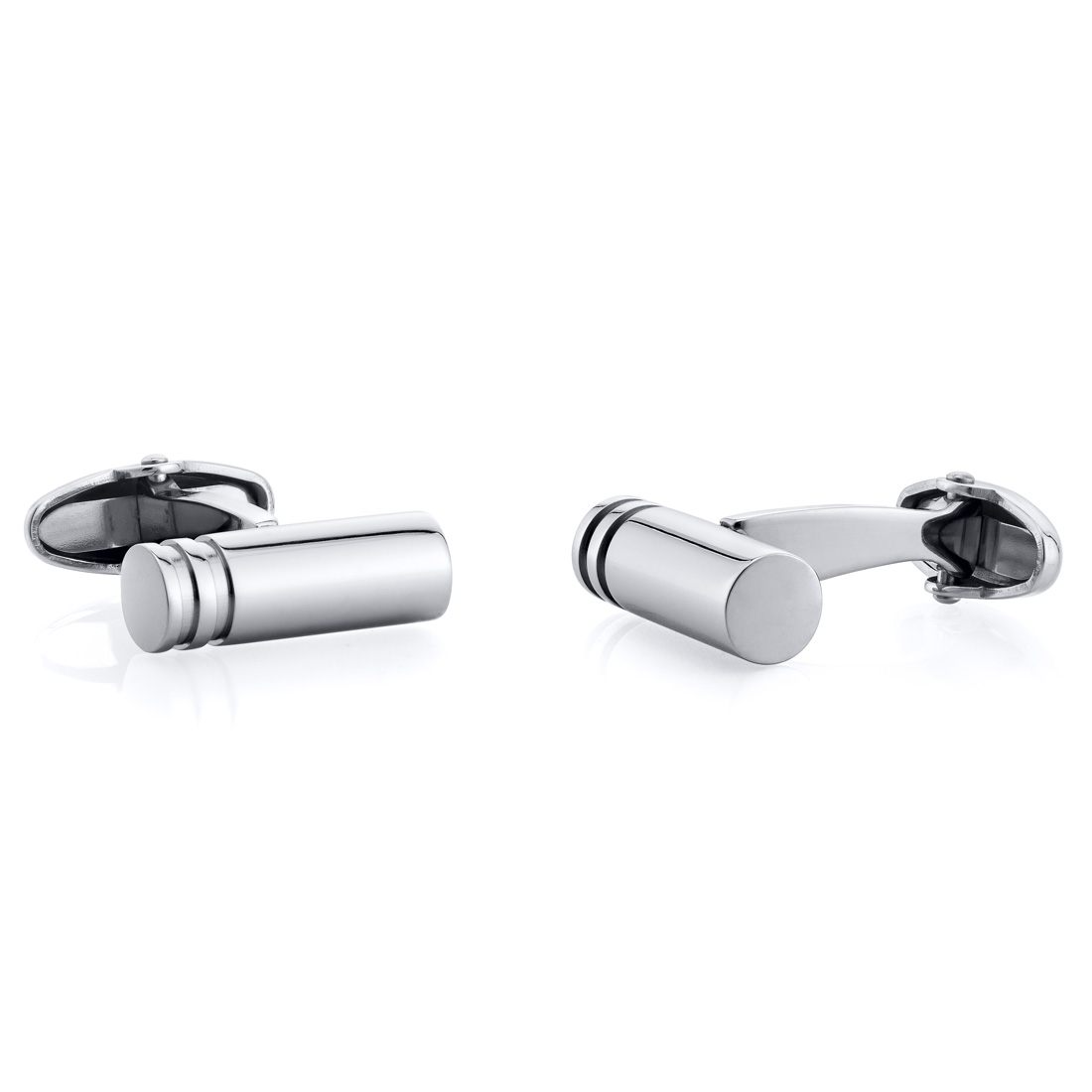 peora Simple Barbell Style Polished Cylindrical Titanium Cufflinks at Sears.com