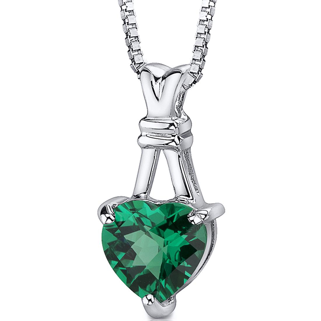 Sterling Silver Pendant Setting Emerald - Topako Mercantile