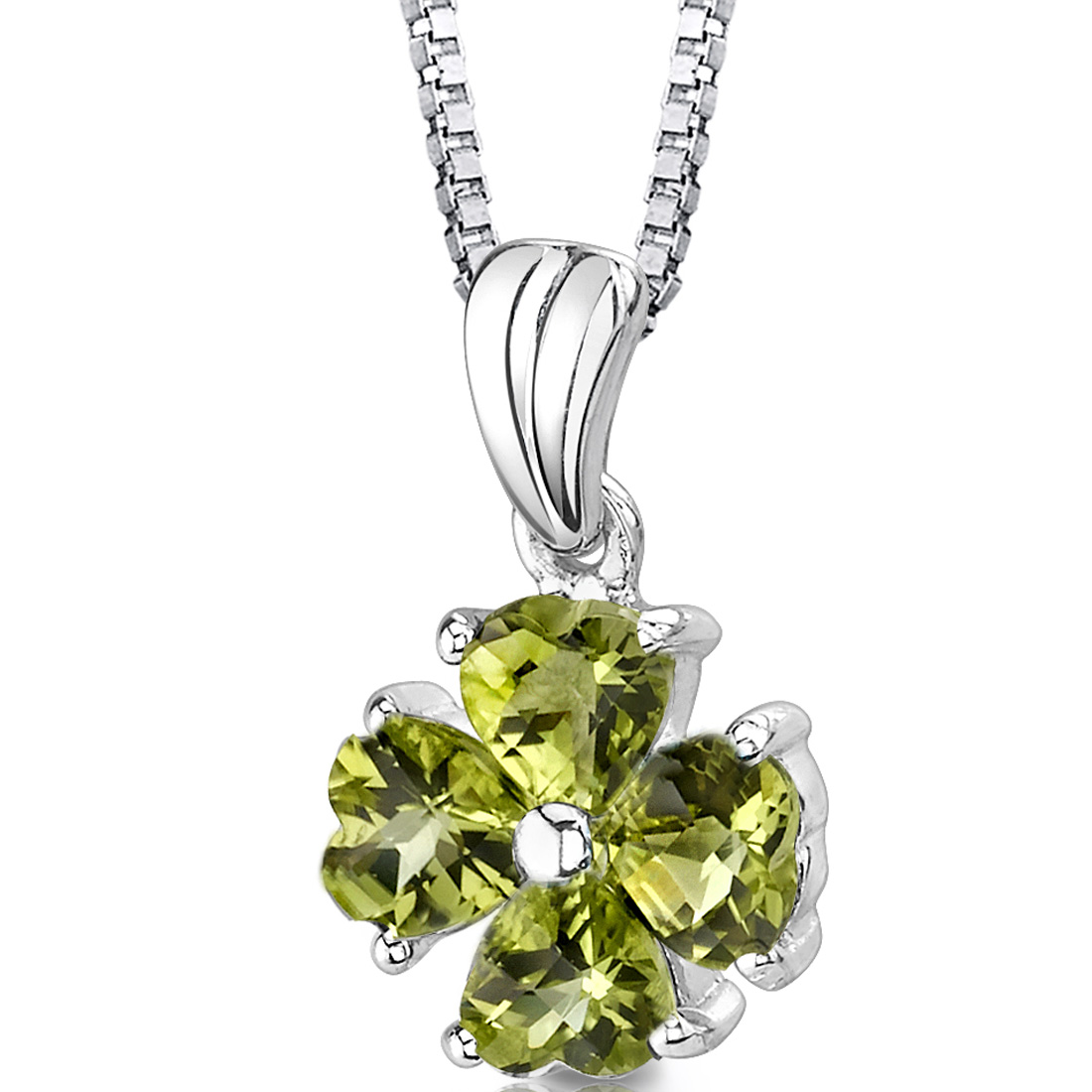 peora Irresistible Desire: Sterling Silver 2.00 carats Heart Shape Checkerboard Cut Peridot Pendant at Sears.com