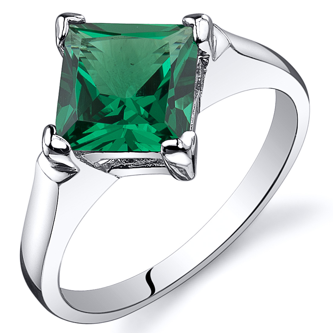Striking 1.50 cts Amethyst Emerald Ring Sterling Silver Sizes 5 to 9 in Jewelry & Watches, Fine Jewelry, Fine Rings | eBay