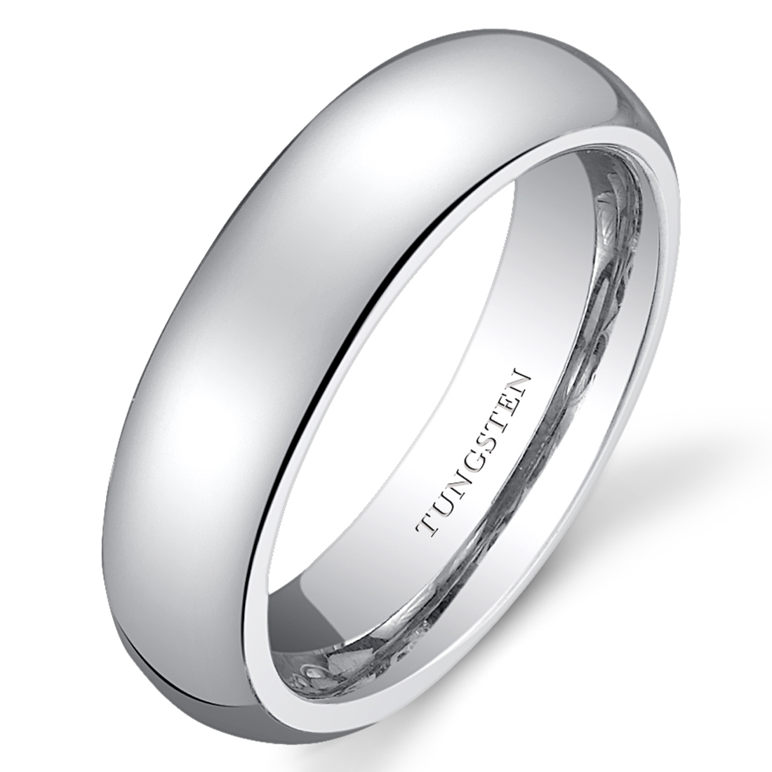 Classy Womens White Tungsten Wedding Band Ring Available
