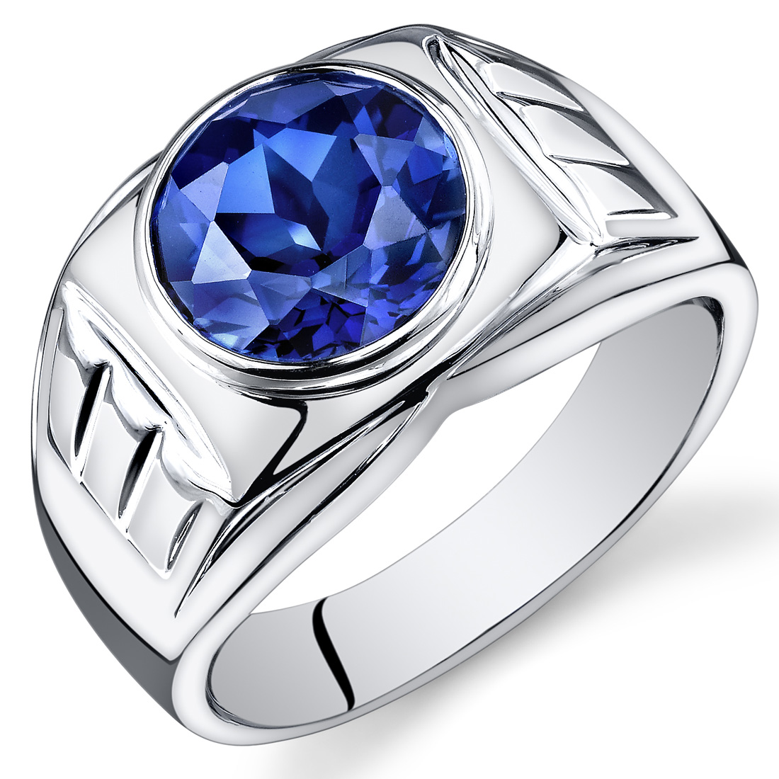 mens 5 5 cts round cut sapphire sterling silver ring sizes. Black Bedroom Furniture Sets. Home Design Ideas