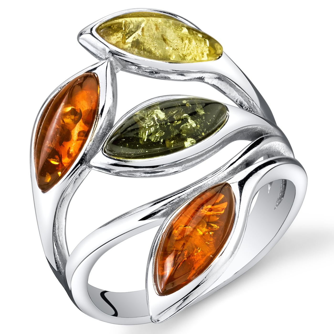 carat gold rings engagement eng ring with amber