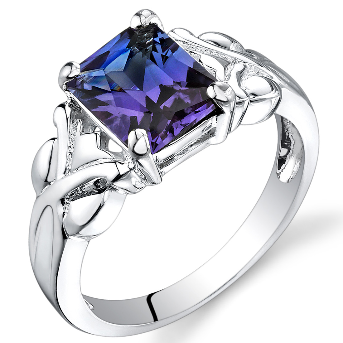 2.75 cts Radiant Cut Alexandrite Ring Sterling Silver Size 5 to 9 in Jewelry & Watches, Fine Jewelry, Fine Rings | eBay
